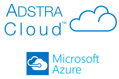 ADSTRA Cloud Hosted on Microsoft Azure Logo